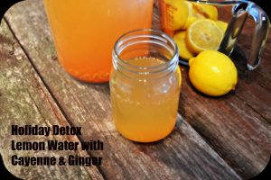 Ginger Cayenne Lemon Detox Water