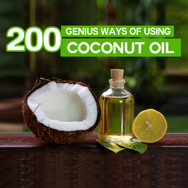 200 genius ways to use coconut oil for health, beauty, cleaning, around home and more. The ultimate coconut oil benefits list!