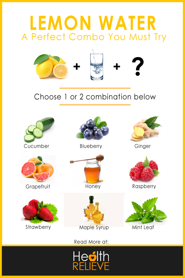 lemon water recipes infographic
